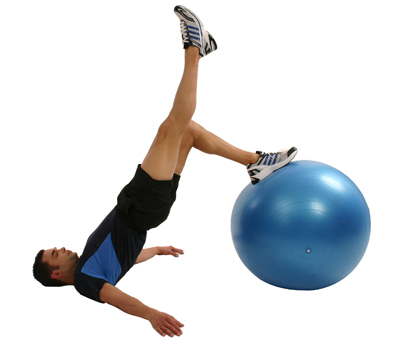 Gymnastikball Ruecken Fitness