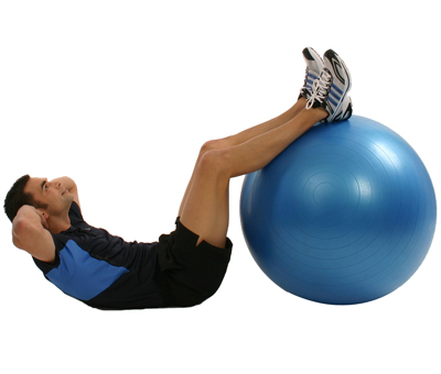 Gymnastikball Sixpack Training mit Personal Trainer