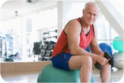 Personaltraining und Fitness fuer Senioren mit Personal Trainer